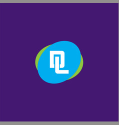 D l joint letter logo emblem design vector