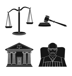 Design law and lawyer icon collection vector