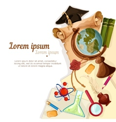 Education elements background vector