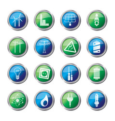 Electricity power and energy icons vector