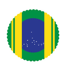 empty brazilian campaign button vector image
