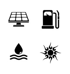 energy simple related icons vector image