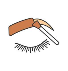 Eyebrows tinting color icon vector