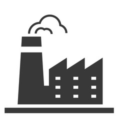 factory black icon production and manufacturing vector image