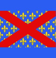 Flag of langres in haute-marne of grand est is vector