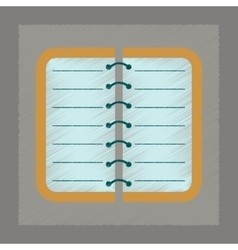 Flat shading style icon spiral notepad notebook vector