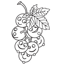 Fresh currant cartoon vector