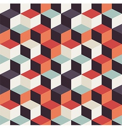 Geometric seamless pattern with colorful squares vector image