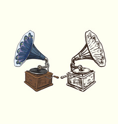 gramophone drawing vector image