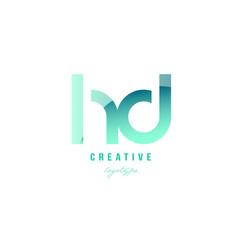 Green gradient pastel modern hd h d alphabet vector