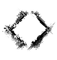 grunge black tire square frame vector image