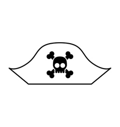Hacker skull alert isolated icon vector image