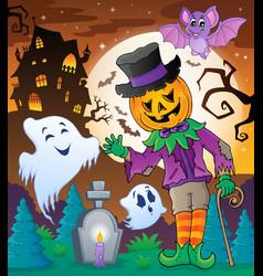 Halloween character scene 5 vector