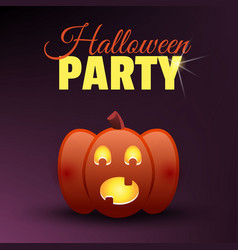 halloween party card happy halloween banner vector image
