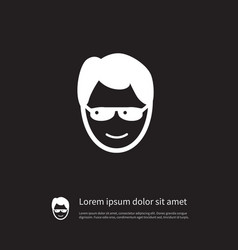 isolated anonymous icon sunglasses element vector image