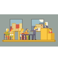 Law Court Justice Scene with Characters Defendant vector image