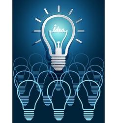 Lightbulb ideas5 vector image