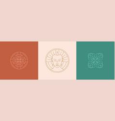 Line decoration design elements set vector