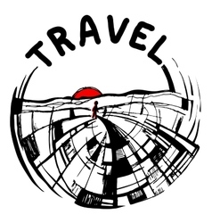 logo painted travel vector image