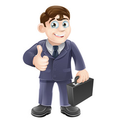 man in suit thumbs up drawing vector image