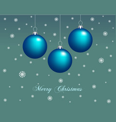 merry christmas greeting card christmas balls vector image