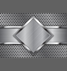 Metal background brushed iron plates on vector
