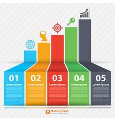 Modern graph banner infographic vector