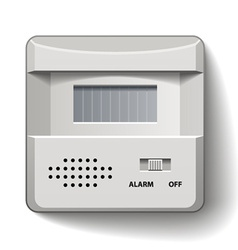 motion detector infrared alarm vector image