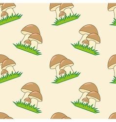 Mushrooms seamless texture vector image