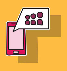 myspace social network sticker icon vector image