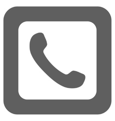 Phone Flat Squared Icon vector