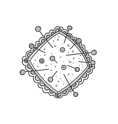 pin cushion vector image
