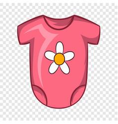 Pink babodysuit icon cartoon style vector