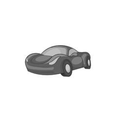 Race car icon black monochrome style vector image
