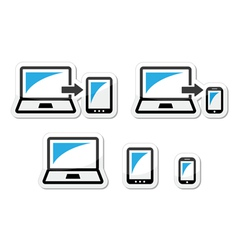Responsive design - laptop tablet smarthone vect vector image vector image