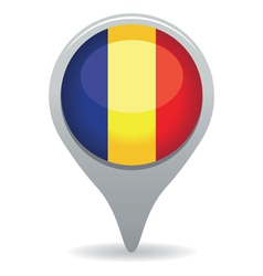 romanian flag pointer vector image