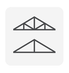 Roof truss icon vector
