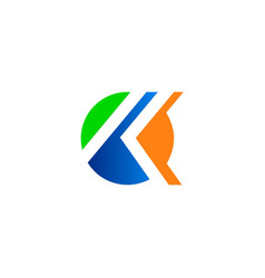 Round letter k company logo vector