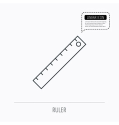 Ruler icon Straightedge sign vector image