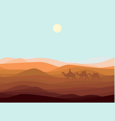 Sand desert landscape template vector