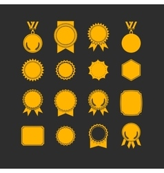 Set of medals isolated on white label designs vector image