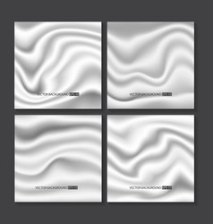 Set of white silk texture vector