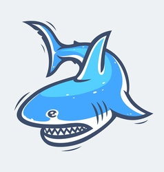 Shark sea life vector image