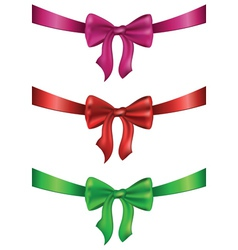 Silk Bows Set2 vector image