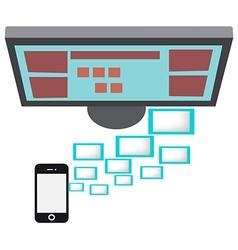 Smartphone on a Desktop vector