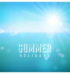 Summer tropical beach background vector
