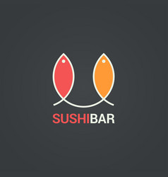 Sushi menu design fish menu background vector