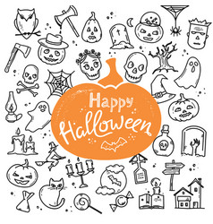 Template halloween happy card or banner vector