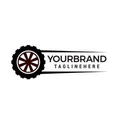 tire auto logo design concept template vector image