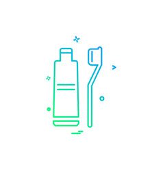 toothpaste icon design vector image